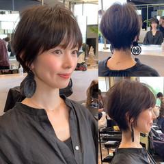 ショートボブ 吉瀬美智子 ショート ショートヘア ヘアスタイルや髪型の写真・画像