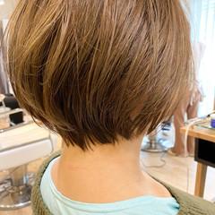 ショートボブ 小顔ショート 簡単ヘアアレンジ 大人可愛い ヘアスタイルや髪型の写真・画像