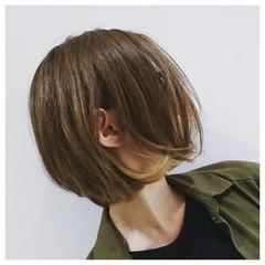 ストリート ボブ インナーカラー ワンレングス ヘアスタイルや髪型の写真・画像