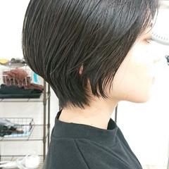 簡単スタイリング ハンサムショート ナチュラル ショート ヘアスタイルや髪型の写真・画像