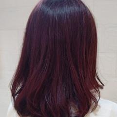 セミロング おしゃれ 女子力 ピンク ヘアスタイルや髪型の写真・画像