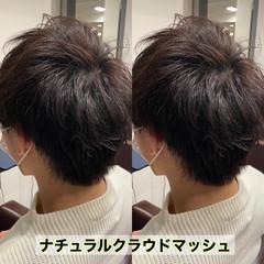 メンズカット メンズマッシュ ショート ナチュラル ヘアスタイルや髪型の写真・画像