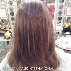 モード ハイライト ミディアム 春 ヘアスタイルや髪型の写真・画像