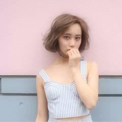 ストリート 外国人風 ブラウンベージュ ヘアスタイルや髪型の写真・画像