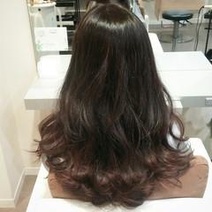 波ウェーブ ハイライト 暗髪 ロング ヘアスタイルや髪型の写真・画像