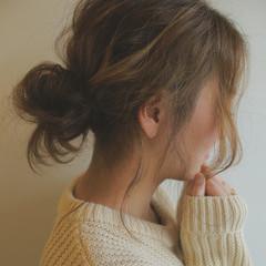 外国人風 ハイライト メッシーバン 大人かわいい ヘアスタイルや髪型の写真・画像