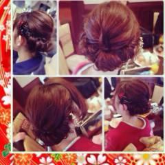 アップスタイル パーティ ヘアアレンジ 大人かわいい ヘアスタイルや髪型の写真・画像