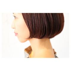 モード ボブ 大人女子 イルミナカラー ヘアスタイルや髪型の写真・画像