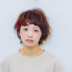 ストリート ダブルカラー ガーリー ナチュラル ヘアスタイルや髪型の写真・画像