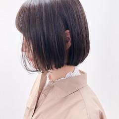 透明感カラー ミニボブ 内巻き 外国人風カラー ヘアスタイルや髪型の写真・画像