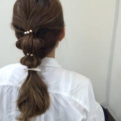 ショート 大人かわいい ヘアアレンジ セミロング ヘアスタイルや髪型の写真・画像