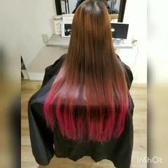 モード ロング 髪質改善 ストレート ヘアスタイルや髪型の写真・画像