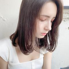 セミロング ナチュラル 縮毛矯正ストカール ストレート ヘアスタイルや髪型の写真・画像