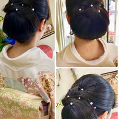 大人女子 ロング 着物 ママ ヘアスタイルや髪型の写真・画像