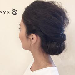 簡単ヘアアレンジ ショート ミディアム ゆるふわ ヘアスタイルや髪型の写真・画像