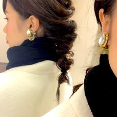 ヘアアクセ セミロング 大人かわいい ヘアアレンジ ヘアスタイルや髪型の写真・画像