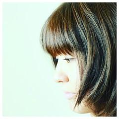 ブラウンベージュ 大人かわいい モード かっこいい ヘアスタイルや髪型の写真・画像