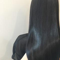 モード ロング 縮毛矯正 艶髪 ヘアスタイルや髪型の写真・画像