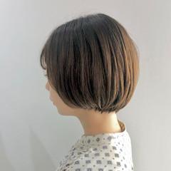 ナチュラル イルミナカラー ボブ ミニボブ ヘアスタイルや髪型の写真・画像