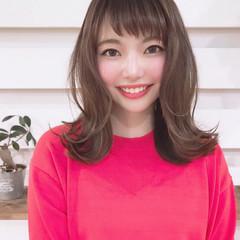 外ハネ 斜め前髪 オフィス 透明感カラー ヘアスタイルや髪型の写真・画像