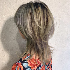 ウルフカット マッシュウルフ ウルフ女子 ナチュラルウルフ ヘアスタイルや髪型の写真・画像