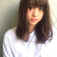 ハイライト 大人かわいい 前髪あり アッシュ ヘアスタイルや髪型の写真・画像