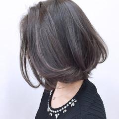 外国人風 大人かわいい ボブ ハイライト ヘアスタイルや髪型の写真・画像