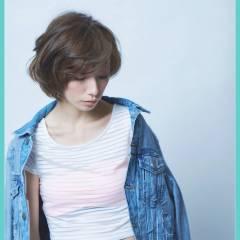 モテ髪 パンク ボブ ストリート ヘアスタイルや髪型の写真・画像