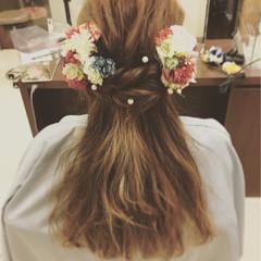 ヘアアレンジ フェミニン 成人式 ロング ヘアスタイルや髪型の写真・画像
