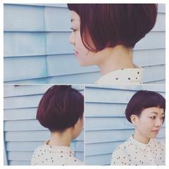 ショート ストリート ピンク 前髪あり ヘアスタイルや髪型の写真・画像