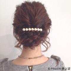 簡単ヘアアレンジ ラフ ミディアム 結婚式 ヘアスタイルや髪型の写真・画像