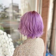 トワイライトパープル パープルカラー ガーリー パープル ヘアスタイルや髪型の写真・画像