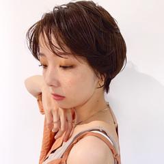 簡単ヘアアレンジ マッシュショート アンニュイほつれヘア ナチュラル ヘアスタイルや髪型の写真・画像