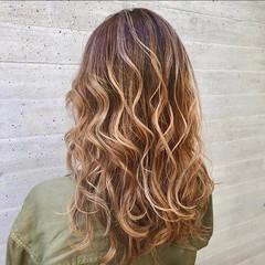 モテ髪 ロング グラデーションカラー エレガント ヘアスタイルや髪型の写真・画像