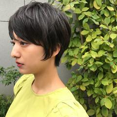 エフォートレス 女子力 ショートボブ 小顔 ヘアスタイルや髪型の写真・画像