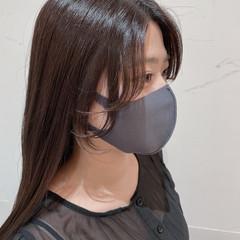 韓国風ヘアー ロング エレガント 韓国ヘア ヘアスタイルや髪型の写真・画像