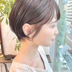 ショートボブ 大人かわいい オフィス ショートヘア ヘアスタイルや髪型の写真・画像