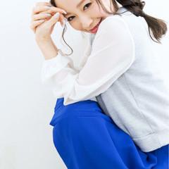 フェミニン ショート ゆるふわ セミロング ヘアスタイルや髪型の写真・画像