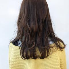 大人かわいい セミロング 透明感カラー ナチュラル ヘアスタイルや髪型の写真・画像