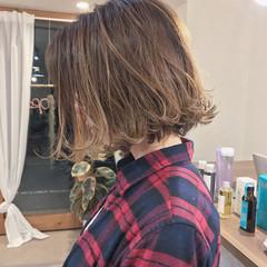 ボブ 切りっぱなし 謝恩会 アンニュイ ヘアスタイルや髪型の写真・画像