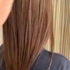 ナチュラル セミロング 縮毛矯正 ストレート ヘアスタイルや髪型の写真・画像