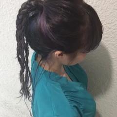 インナーカラー デート ハイライト 外国人風 ヘアスタイルや髪型の写真・画像
