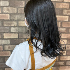 暗髪 アディクシーカラー ブリーチ必須 セミロング ヘアスタイルや髪型の写真・画像