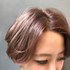 ダブルカラー ウェーブ アンニュイ 外国人風 ヘアスタイルや髪型の写真・画像