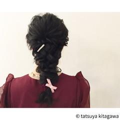 結婚式 花嫁 フェミニン ヘアアレンジ ヘアスタイルや髪型の写真・画像