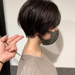 丸みショート ハンサムショート 大人ショート ショートボブ ヘアスタイルや髪型の写真・画像