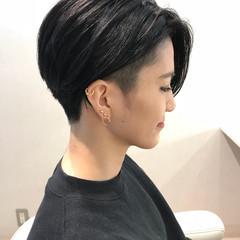 アッシュ ショート モード 坊主 ヘアスタイルや髪型の写真・画像