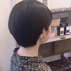 小顔 簡単ヘアアレンジ 春 ショート ヘアスタイルや髪型の写真・画像
