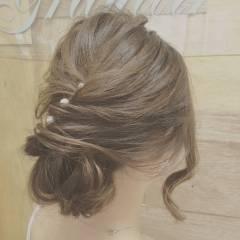 パーティ ルーズ ヘアアレンジ アップスタイル ヘアスタイルや髪型の写真・画像