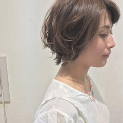 ナチュラル ショートボブ グラデーションカラー ショート ヘアスタイルや髪型の写真・画像